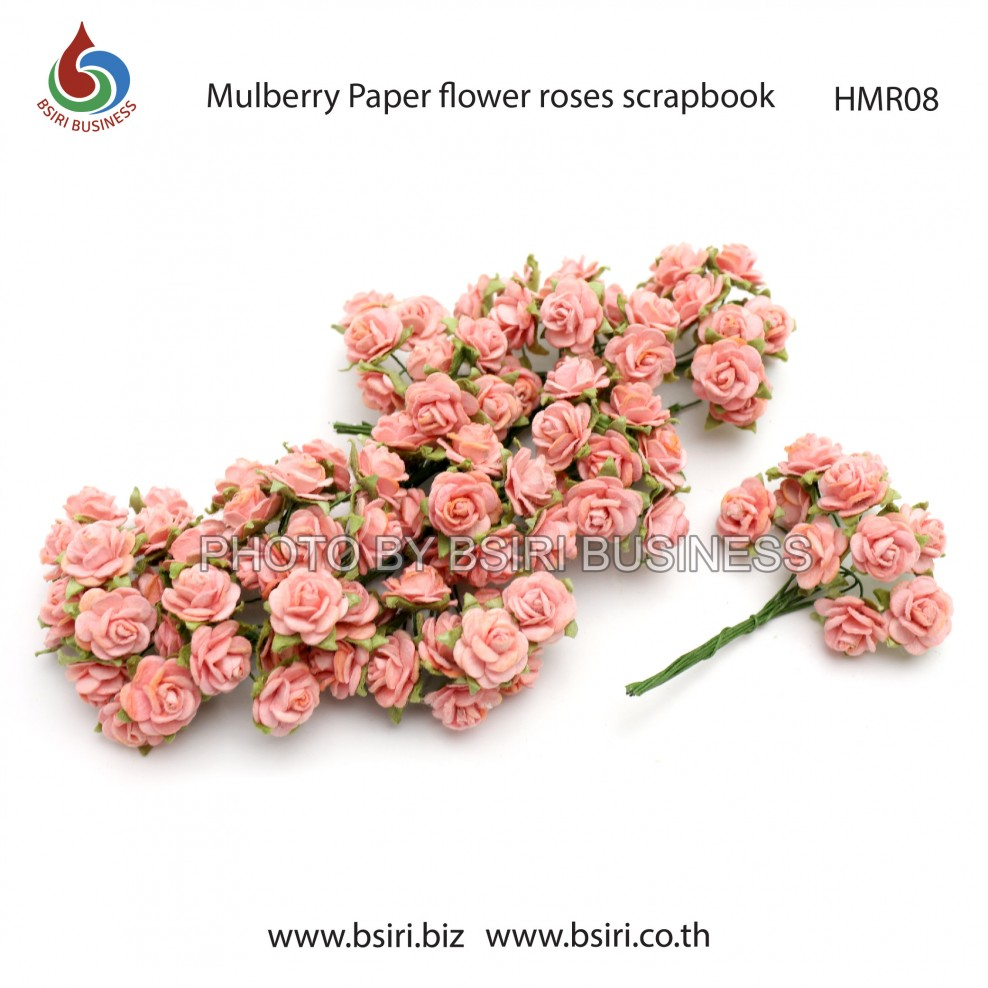 100 Mulberry Paper Rose Flower Handmade 15 Cm Scrapbooking Wedding