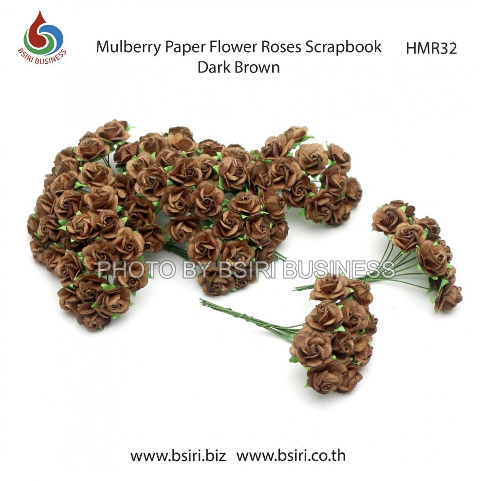 100 Mulberry Paper Rose Flower Handmade 15 Cm Scrapbooking Wedding