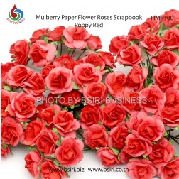 Mulberry paper flowers 100 mulberry paper scrapbooking rose flower r100 poppy red mightylinksfo